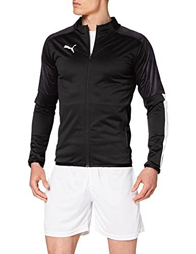 PUMA Cup Sideline Jacket Chaqueta De Entrenamiento, Hombre, Negro Black/Asphalt, S