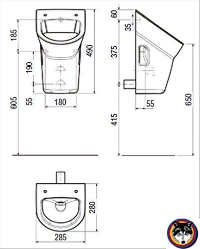 Geberit DuofixBasic Urinal Universal, Komplett-Set, Samba Laufen Urinal