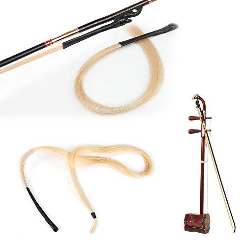 Nunafey Feines duktiles Bogenpferdehaar, Cellobogenpferdehaar, zum Ersetzen des Alten Bogenhaars Viola Erhu Bögen Violine Reparieren Sie das gebrochene Bogencello