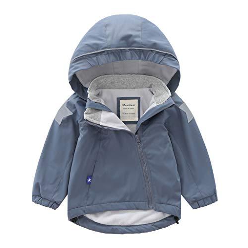 HDUFGJ Kinder Softshell-Jacke Plus Samt mit Kapuze Jacke Regenmantel wasserdichter Übergangsjacke Funktions- Softshell