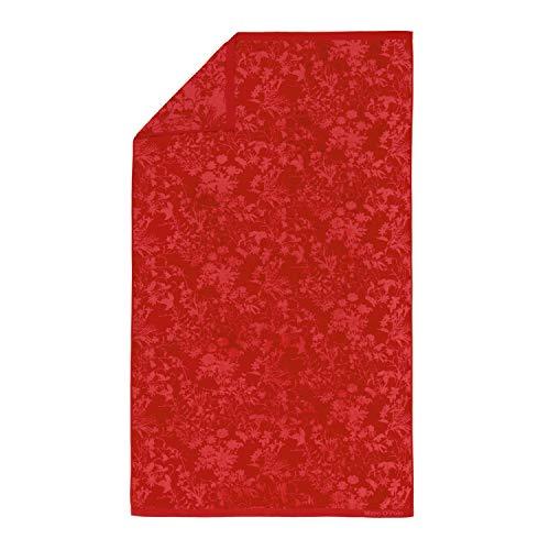 Marc O'Polo Honalu Beach Towel Badetuch, 100 % Baumwolle, Velours, 100 x 180 cm, Rot