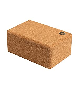 Manduka Cork Yoga Block – Resilient Sustainable Material Portable Comfortable Easy to Grip Fitness Yoga Exercise & Pilates | 9  x 6  x 4