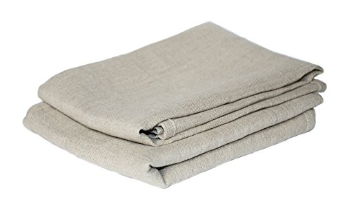 Harmony Idea Bakers Couche (Professional Set 26'x34'&26'x23') Pure Flax Linen 100% Bake Ware Canvas Bread Baguettes loafs Proofing Cloth