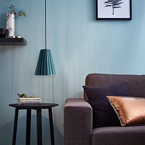 YANQING Duurzame Hanglamp Industriële Stijl Blauw Cement Kroonluchter LED Lamp Plafond Licht Woondecoratie Eetkamer 22 * 22 * 24 cm Hanglamp (Kleur : Warm licht), Kleur: Wit Licht
