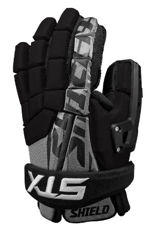 STX Lacrosse Shield Goalie Glove, Black, 10-Inch