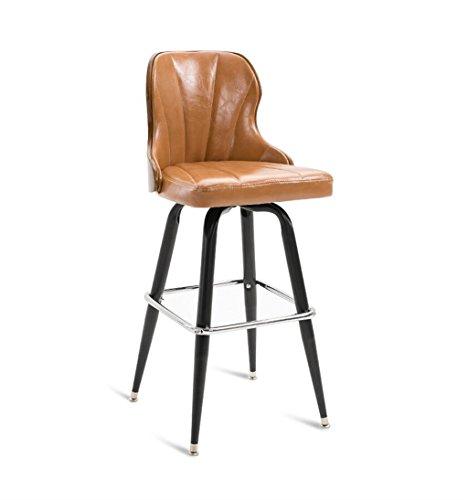 Chaises de barre de fer cuisine petit déjeuner salle à manger chaise style rétro haute chaise de comptoir haut tabouret de bar arrière pour la famille et les affaires - kaki