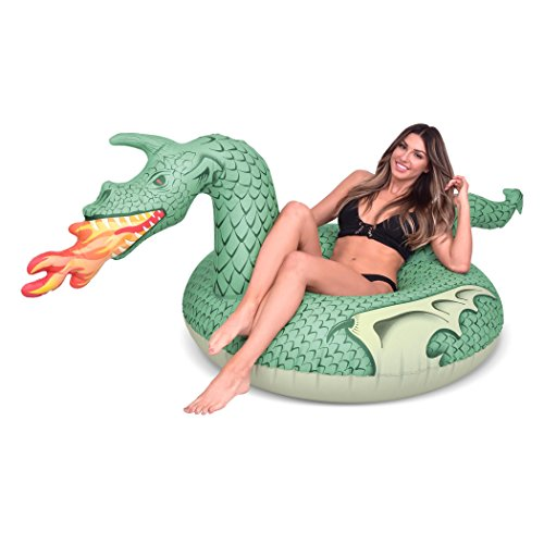 GoFloats Fire Dragon Party Tube Inflatable Raft, Set Your Summer on Fire (for Adults and Kids)