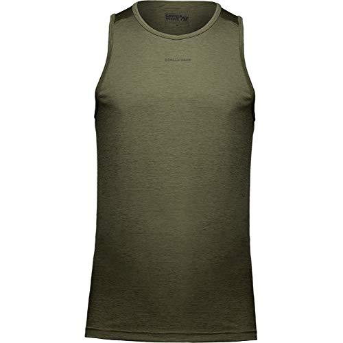 GORILLA WEAR Madera Tank Top - Bodybuilding und Fitness Bekleidung für Herren, grün, M
