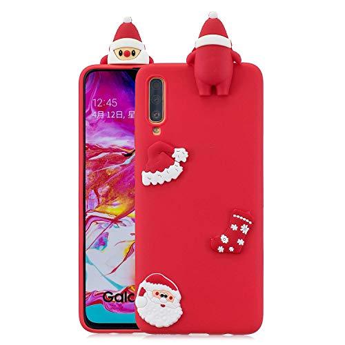 HongYong - Funda para Oppo R9s (con correa para teléfono), diseño de oso panda, Silicona, TPU., Santa Claus - Rojo, Huawei P30