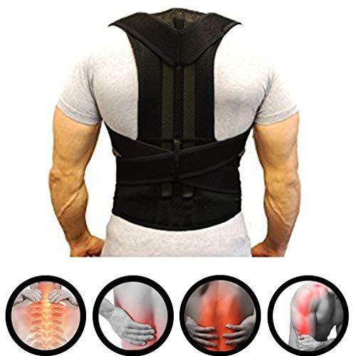 ZSZBACE Corrector de Postura, Refuerzo de Espalda para Hombres y Mujeres, Proteger la Cintura, Equipo de Tácticas (XXL (110-125cm))