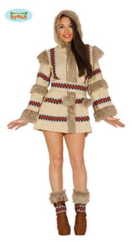Bruin eskimo kostuum voor vrouw