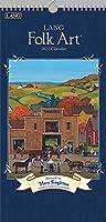 LANG Folk Art 2021 縦型ウォールカレンダー (21991079119)
