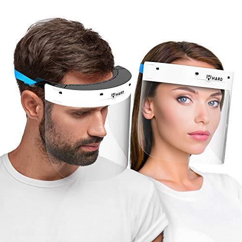 Hard Maschera di protezione per il viso con 2x Visiera rimovibile, certificato medico,...
