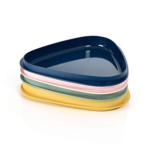 Light My Fire Assiettes Plates - Set Vaisselle Camping 4 Couleurs - Assiette Plastique Rigide - Vaisselle Plastique Reutilisable 100% sans BPA - Micro-Ondes & Lave-Vaisselle - Service Assiette Camping