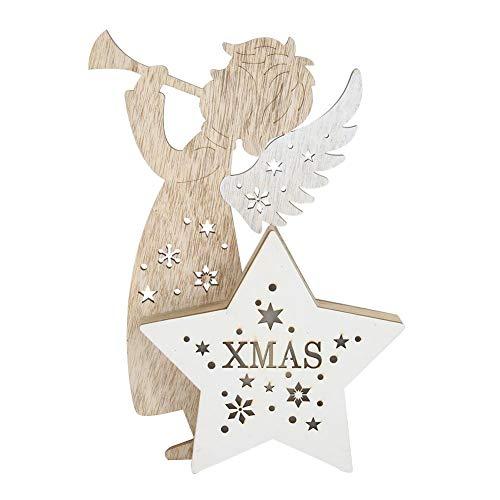 Combort Luminous Christmas Tree Ornaments Holz Weihnachten Anhänger dekorative hängende Ornamente Party Dekoration Weihnachten Lieferungen(2#)
