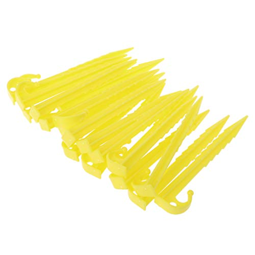 Vivianu Gardening Supplies - 20Pcs Garden Plastic Stakes Tent Pegs for Holding Down the Tents Garden Netting Tarps