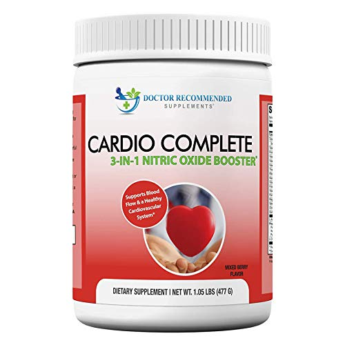 Cardio Complete – Heart Health and Cardiovascular Support Powder Supplement – 3-in-1 Nitric Oxide Booster with 5,000 L…