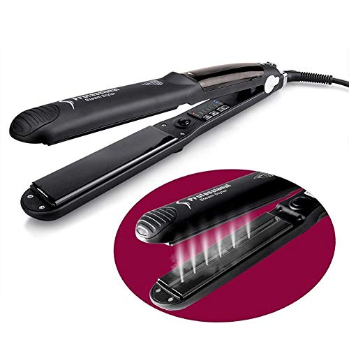 New Steam Hair Straightener, Professional Salon Ceramic Tourmaline with Vapor Heat up Fast, 360°Swi...