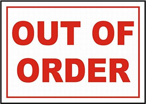 VinMea Out of Order Schild Sicherheitsschild Blechschild Warnschild 8x12