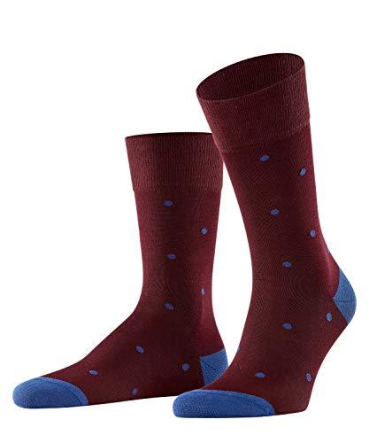 FALKE Herren Dot M SO Socken, Blickdicht, Rot (Barolo 8596), 39-42 (3er Pack)