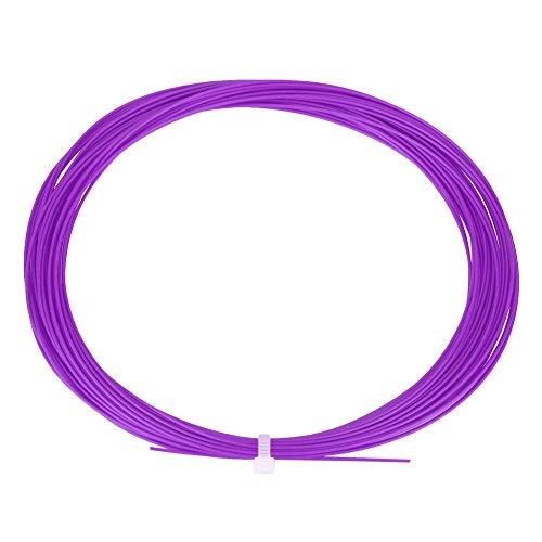 Nicoone Línea de Cuerda de Raqueta de Raqueta de Bádminton de Alta Flexibilidad de Nailon Duradero de 10 M