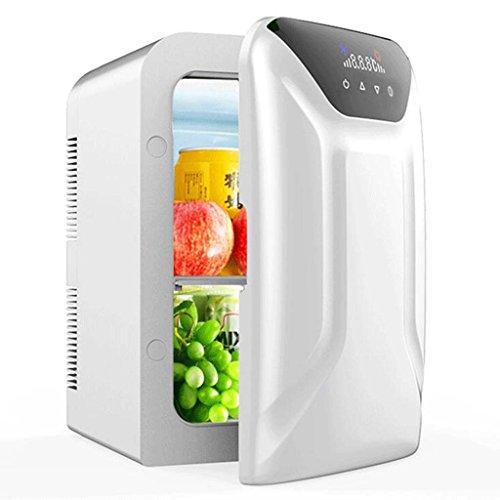 Haizen Mini-koelkast, 16 liter, wit, draaggreep, 12 volt, auto, 220 volt, koel, vriezer, verwarmd, huishouden, kleine koelkast, slaap, mini-koelkast, kleine vrieskast, 35 x 30 x 44 cm, voor thuis, kantoor, auto, woonhuis of boot