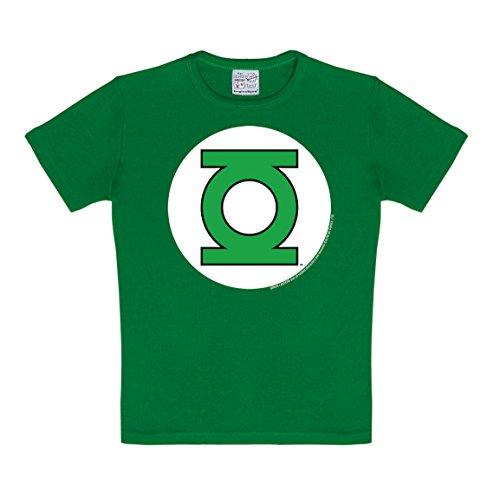 Logoshirt Camiseta para niño Linterna Verde - Logotipo, DC Comics - Green Lantern - Logo - Camiseta con Cuello Redondo Verde - Diseño Original con Licencia, Talla 140/152, 10-12 años