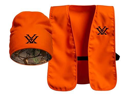 Vortex Optics Blaze Orange Vest & Knit Cap Combo