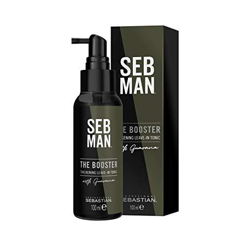 Sebastian SEBMAN The Booster: Tónico Cabello Hombre Espesante con Efecto Frescura Vibrante Sin Aclarado - 100ml