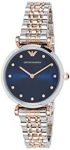 Emporio Armani Damen Analog Quarz Uhr mit Edelstahl Armband AR11092