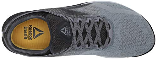 Reebok Men's Nano 9, cold Grey/Toxic Yellow, 10 US medium