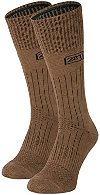 281Z Military Lightweight Boot Socks - Tactical Trekking Hiking - Outdoor Athletic Sport (Coyote Brown)(Small 2 Pairs Pack)