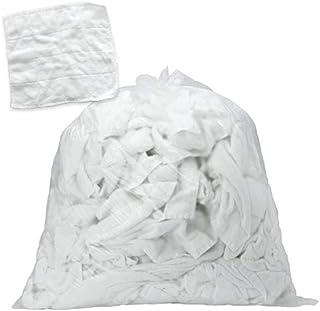 FSX タオルウエス 白 約4kg おしぼりサイズ ふち縫い 綿100% クリーニング済み