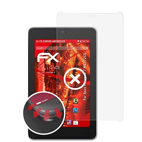 atFolix Schutzfolie kompatibel mit Asus Fonepad 7 ME372CG Folie, entspiegelnde und Flexible FX Displayschutzfolie (2X)