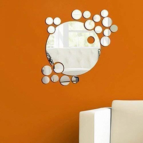 Walplus Rund Kombination 3D Kristall-spiegel Wandkunst, Silber