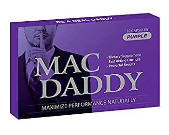 MAC DADDY- Natural Male Energy Pills - Maximize Performance Energy and Endurance! Effectively Increase Test Levels - 10 Pills per Pack