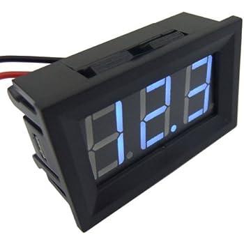 """SMAKN 0.56"""" 2 Wires Blue DC 3.0v-30v LED Panel Digital Display Voltage Meter Voltmeter"""