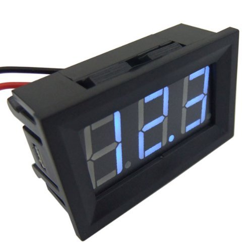 "SMAKN 0.56"" 2 Wires Blue DC 3.0v-30v LED Panel Digital Display Voltage Meter Voltmeter"