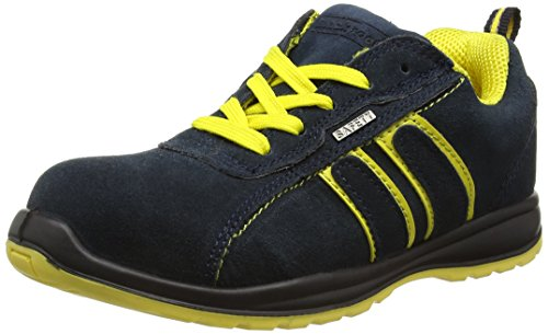 Blackrock Hudson Trainer - Zapatillas de seguridad con punta de acero, Unisex Adulto,Multicolor (Navy/Yellow), talla 42 EU (8 UK)
