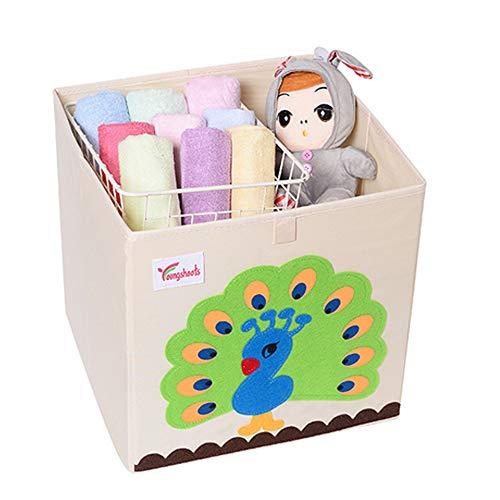 YZNlife Kinder Aufbewahrungsbox ohne Deckel, Faltbar Spielzeug Box, praktische Spielzeugbox für jedes Kinderzimmer, Kapazität Spielkiste zur Aufbewahrung von Kinder Spielsachen, Kinder Wäschekorb