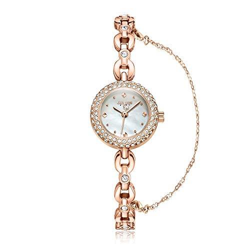 CHENDX Nueva luz de Lujo de Lujo Pulsera de cáscara de Diamante Elegantes Elegantes Relojes Mujeres (Color : B)