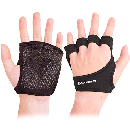 NH Weight-Lifting Workout Crossfit Fitness Gloves, Callus-Guard Gym Barehand Grip, Support Alpha Cross-Training, Rowing, Power-Lifting, Pull Up for Men & Women