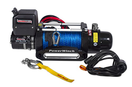 PowerWinch PW9,5 Panther SYnthetikseil High Speed 19 m/min Seilwinde Premium Class Winch Abschleppwagen Winde Geländewagen Offroad 4309kg 9500 lbs 12V Fernbedienung Funk Kunststoffseil