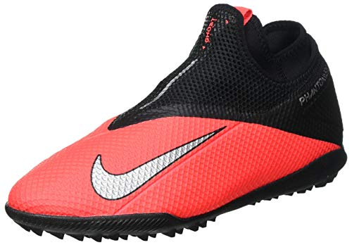 Nike Phantom VSN 2 Academy DF TF, Men's Football Boots, Laser Crimson Metallic Silver, 10.5 UK (45.5 EU)