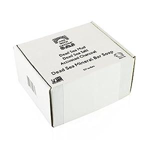 DEAD SEA Salt Mud Charcoal – Soap Variety Pack, Dead Sea Mud, Dead Sea Salt, Activated Charcoal. With Shea Butter, Argan Oil. All Skin type, Problem Skin. Acne Treatment, Eczema, Psoriasis, 3/7oz Bars