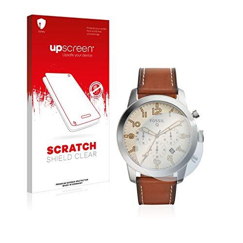 upscreen Schutzfolie kompatibel mit Fossil Q Pilot 54 – Kristallklar, Kratzschutz, Anti-Fingerprint
