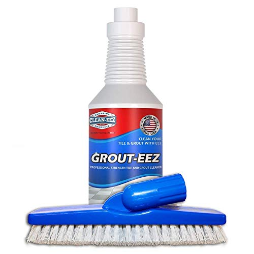 Grout-EEZ Super Heavy-Duty Tile & Grout Cleaner. Easy and Safe to Use. Destroys Dirt and Grime with Ease. Even Safe for Colored Grout. with Grout Brush. Clean-EEZ (The Floor Guys)