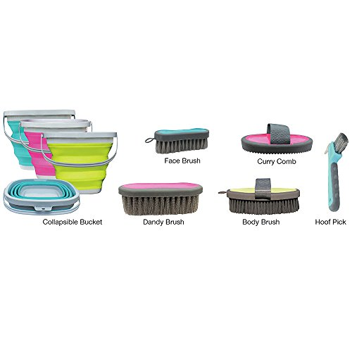 Professional's Choice Assorted Color Tail Tamer's Grooming Kit W/Bucket