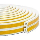 Keeping Fun Indoor Weather Stripping,Self Adhesive Foam Window Seal Strip for Doors and Windows Weatherstrip Gap Blocker,7/20-Inch x 6/25-Inch x 8-Feet,(2 Seals Total 16Feet) White