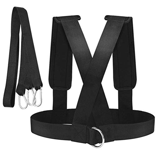 Schlitten Schultergurt, Trainingsgurt Fitness Speed Resistance Power Belt Gewicht einstellbar Trainer Lauftrainingsgeräte für Krafttraining Widerstandstraining Zugschlitten